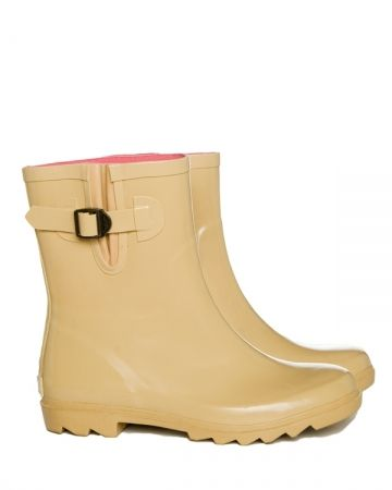 Pipduck Rubber Wellies / Gumboots Camel Mini - hardtofind.