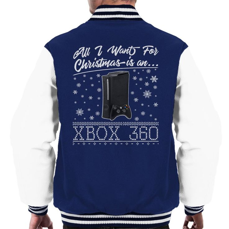 Just added: All I Want For Ch... Check it out here: http://www.coto7.com/products/all-i-want-for-christmas-is-an-xbox-360-mens-varsity-jacket?utm_campaign=social_autopilot&utm_source=pin&utm_medium=pin