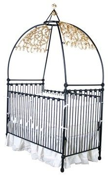 Gothic Iron Canopy Crib by Corsican Iron Furniture eclectic cribs