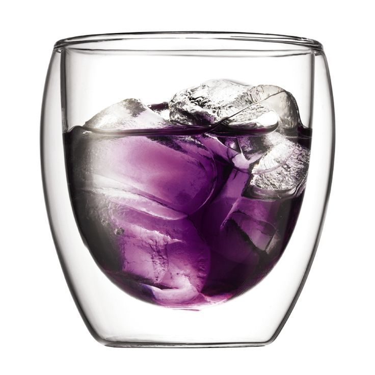 PAVINA 2 pcs glass, double wall, small, 0.25 l, 8 oz Transparent