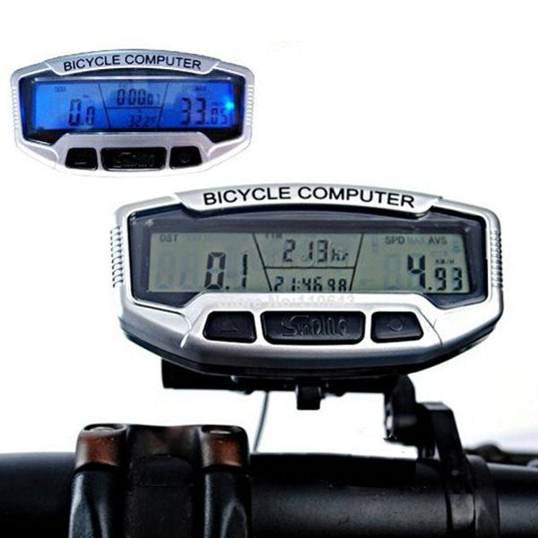 Digital Bicycle Road Bike Computer LCD Odometer Speedometer Stopwatch SD558A