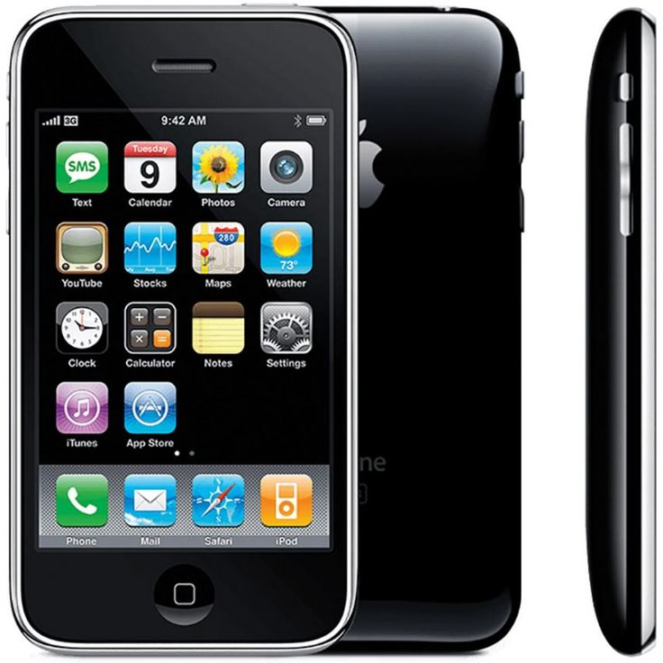 iPhone 3G, 2008  A year later, the tech giant released its follow-up to the original iPhone, which it claimed to be twice as fast as its predecessor thanks to its 3G networking capabilities.  It was the first iPhone to include the App Store, and its design replaced the aluminium back of the first generation device with plastic polycarbonate. Buttons were changed from plastic to metal, and the edges of the phone were tapered.