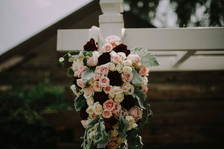 Chelsea + Tyler | Pergola arrangement by @AuroraFloraOH | Photo by Rosey Red Photography http://roseyredphotography.com/