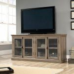 Sauder Barrister Lane Storage Credenza TV Stand - Salt Oak - The Sauder Barrister Lane Storage Credenza TV Stand - Salt Oak , with its gorgeous finish, has plenty of space for a flat-screen TV up to 78...
