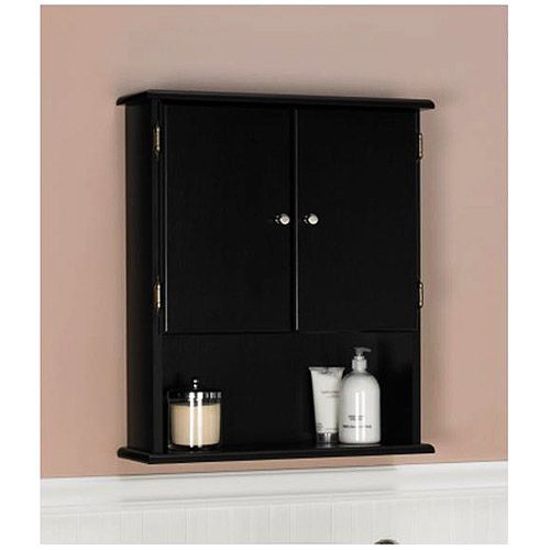 Wall cabinet espresso 5305045 walmart home for Bathroom cabinets over toilet walmart
