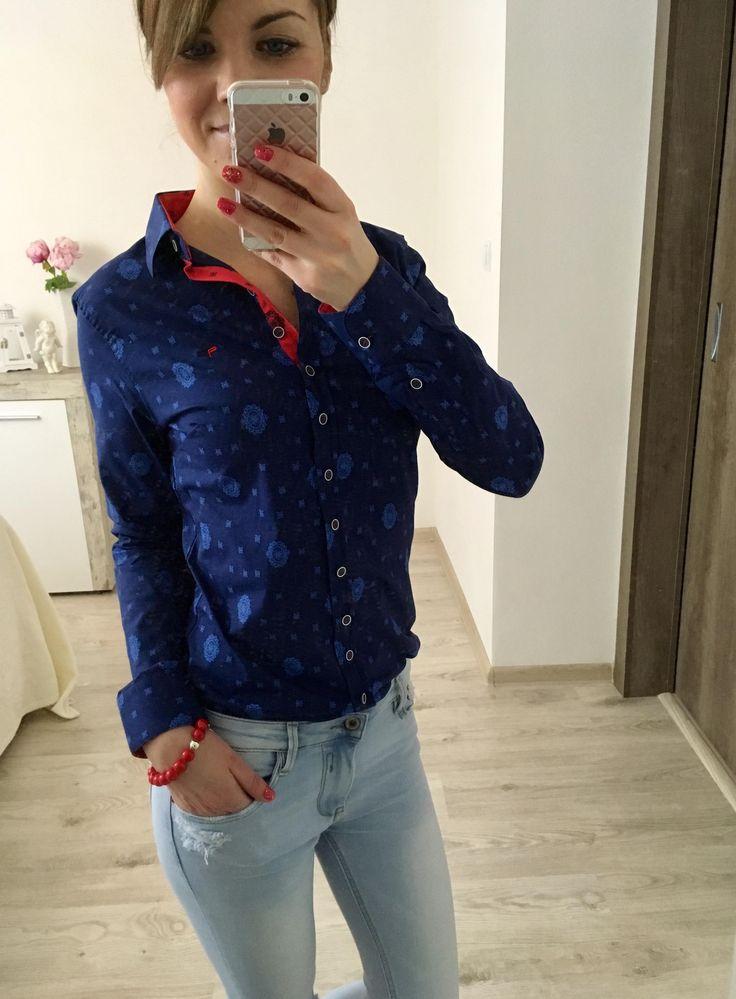 Dámska košeľa modrá R1