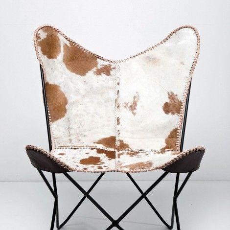 KARE Prague - Arm Chair Butterfly Fur