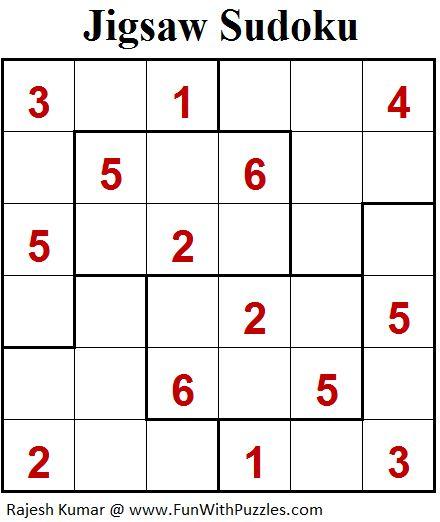 Jigsaw Sudoku (Mini Sudoku Series #94)