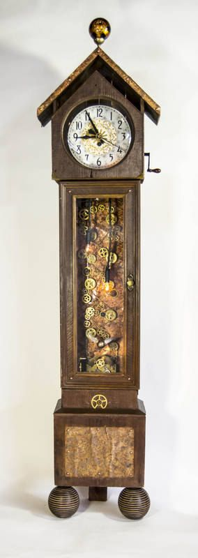 369 best images about clocks on pinterest louis xvi clock and rococo - Steampunk mantle clock ...