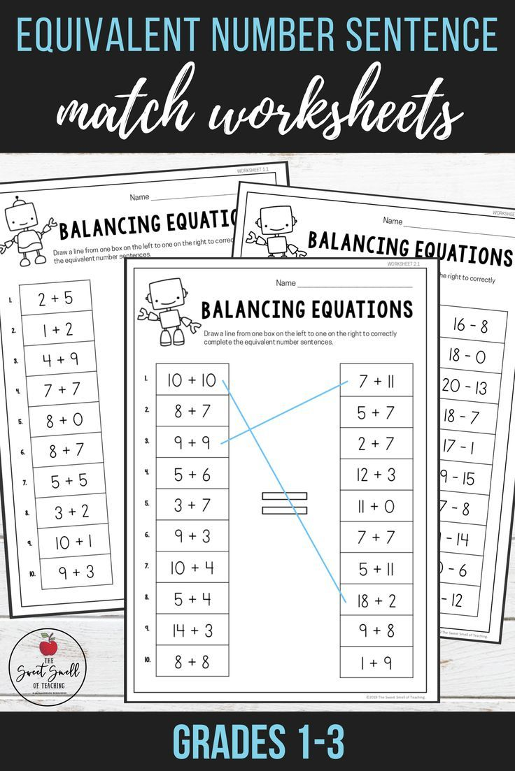 Students Will Use Their Problem Solving Skills To Answer Equations Involving Addition And Subtraction Within 50 Differentiat Math Methods Math Math Resources Balancing equations addition and