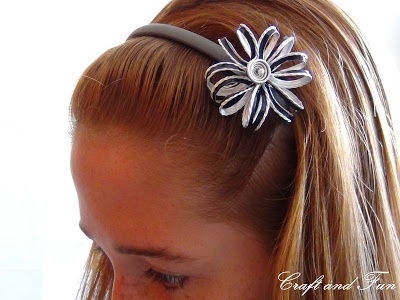 Hair accessories made with recycled Nespresso capsules, tutorial available