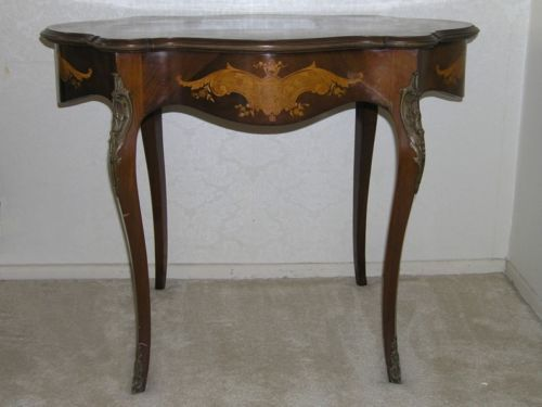 MAKE-OFFER-STUNNING-INLAID-ITALIAN-ANTIQUE-WOOD-TABLE- - Antique Inlaid Wood Furniture Antique Furniture
