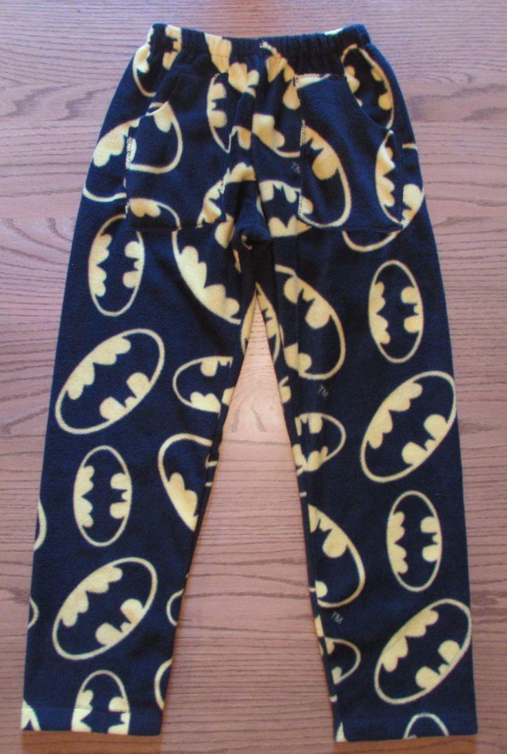 Batman forever fleece pajama pants / mens pajama pants / boys pajama pants / fleece pajama pants with pockets by livenlovecreations on Etsy