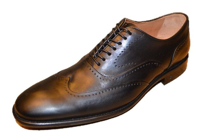 John Varvatos Men's Black Leather Oxfords