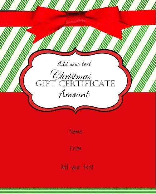 Более 25 лучших идей на тему «Free gift certificate template» на - christmas gift certificates templates