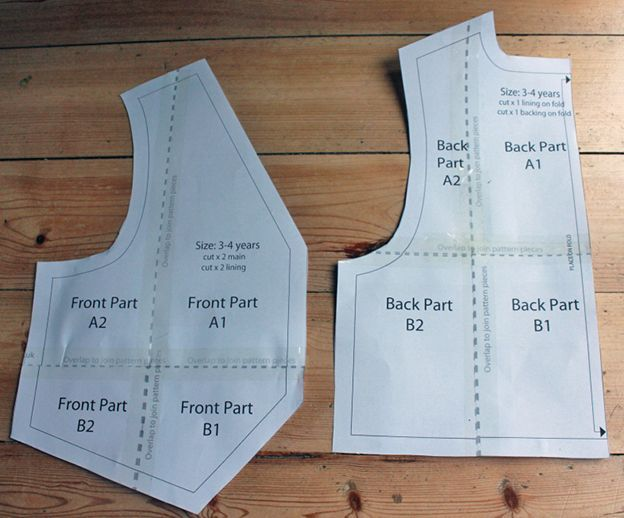 Toddler Waistcoat Sewing Pattern