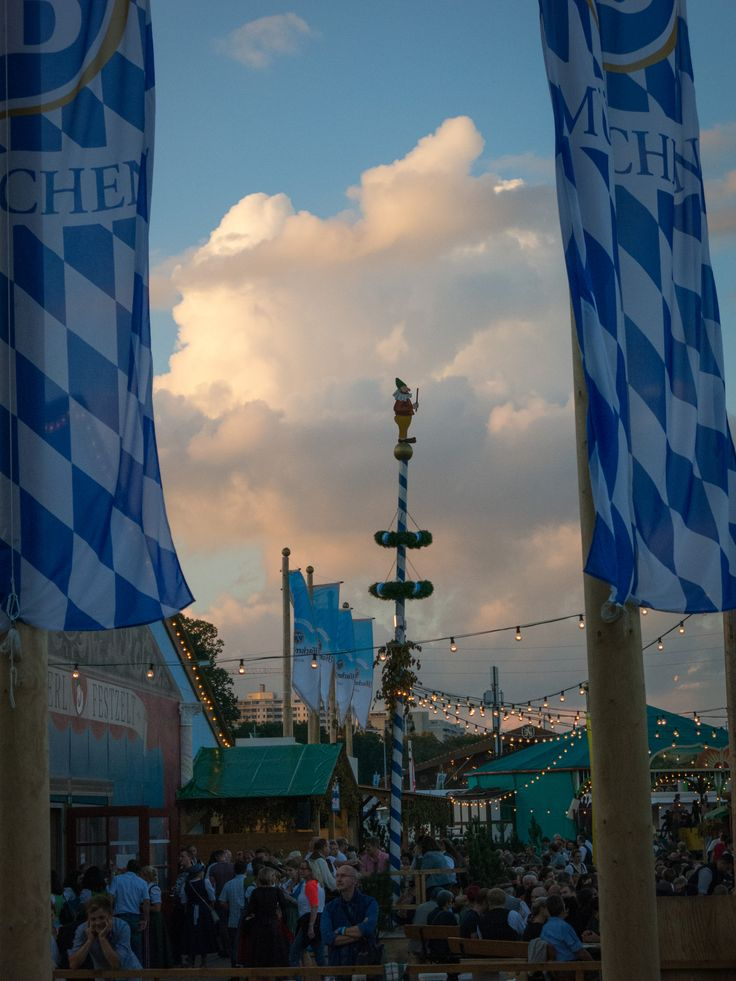 Evening atmosphere at the Oktoberfest in Munich, #Germany.