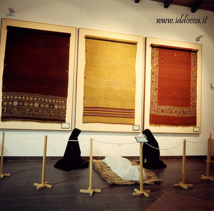 A room of MURATS, the regional museum of Sardinian textile art, in Samugheo !