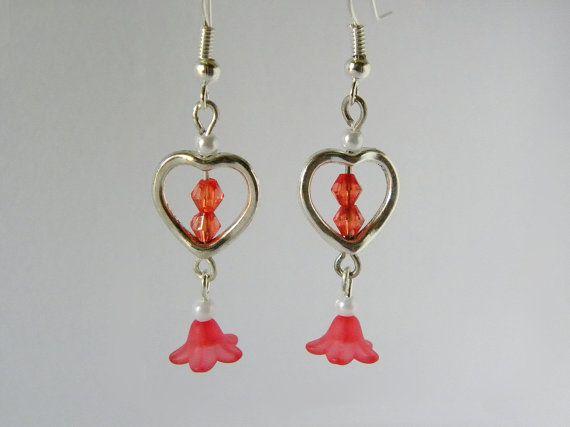 Orecchini pendenti con decorazione a cuore perline di AlpegFactory