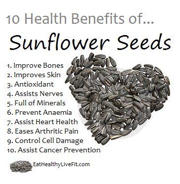 sunflower seeds benefits - Google Search  www.MarysLocalMarket.com Sustainable-Natural-Community #maryslocalmarket