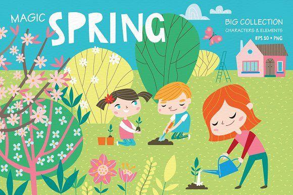 Magic spring by Alena Razumova on @creativemarket