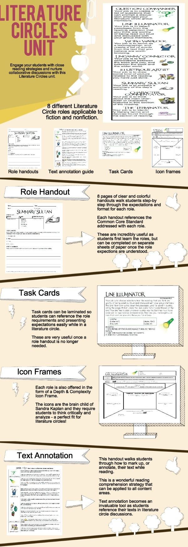 Worksheets Literature Circle Role Worksheets 37 best literature circles images on pinterest teaching reading circles
