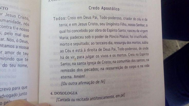...credo apostólico