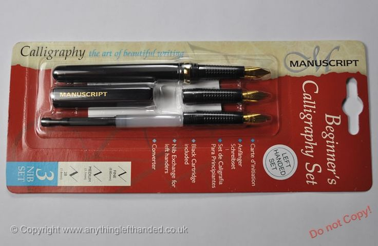 Manuscript Beginner's Calligraphy set left-handed