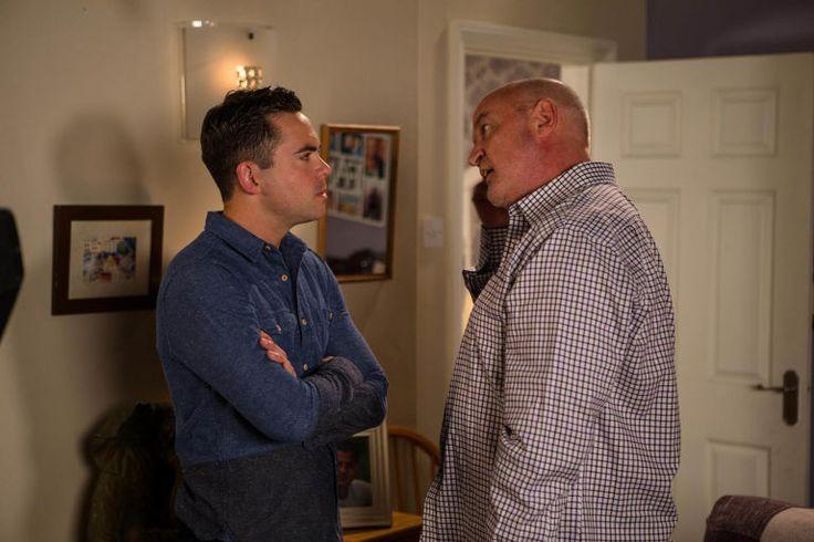 Todd Grimshaw (Bruno Langley) & Pat Phelan (Connor McIntyre) (September 2016)