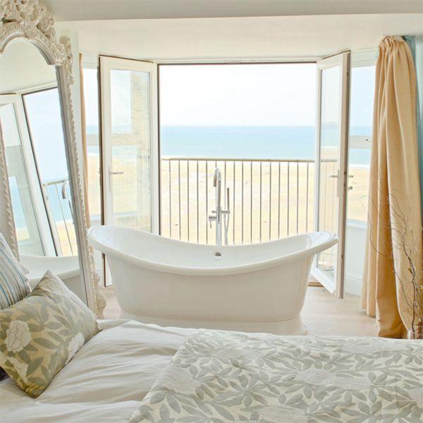 Freestanding Bathtub In White Bedroom   Pinterest Pic Picks By  RetoxMagazine.com