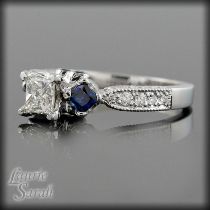 Sapphire Engagement Rings Vintage Sapphire Engagement Ring