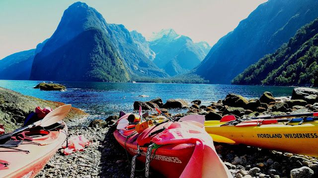 """2013 Photo Contest Winner! Kayaks in Milford Sound, New Zealand. """"Like"""" this photo on the #GEO Facebook page to vote for the grand prize winner. Voting ends September 3, 2013. Vote for this photo here: https://www.facebook.com/photo.php?fbid=659699300709123=a.659698110709242.1073741828.370890516256671=3"""