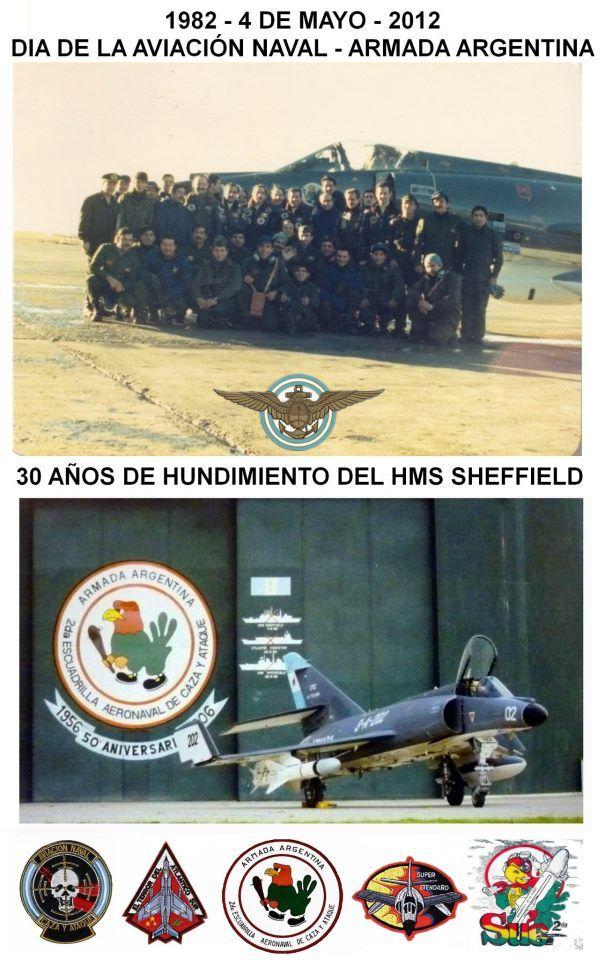 30 años del hundimiento del HMS Sheffield --- 1982-2012 - Aviación Naval…