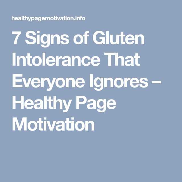7 Signs of Gluten Intolerance That Everyone Ignores – Healthy Page Motivation