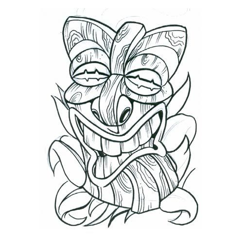 Tribal Mask Tattoos   tiki mask5 tribal tattoo design, art, flash, pictures, images, gallery ...