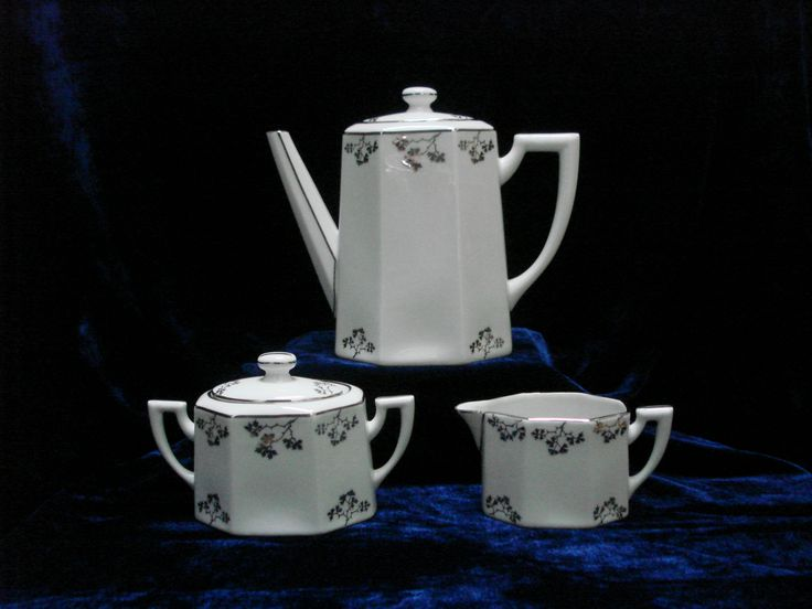 Art Deco Tea Set, TLB Limoges 1930s, France