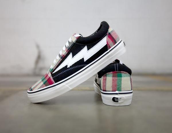 Revenge X Storm Ian Connor Plaid Blk Solestage Vans Old Skool Sneaker Sneakers Revenge