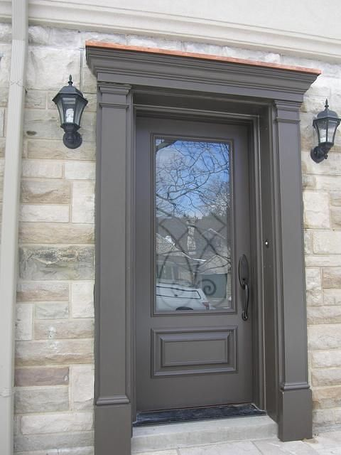 Fibreglass door entry with matching pilasters and pediment (door surround)