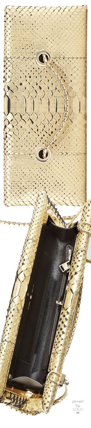 TOM FORD Python Chain Clutch Bag, White Gold | LOLO❤︎