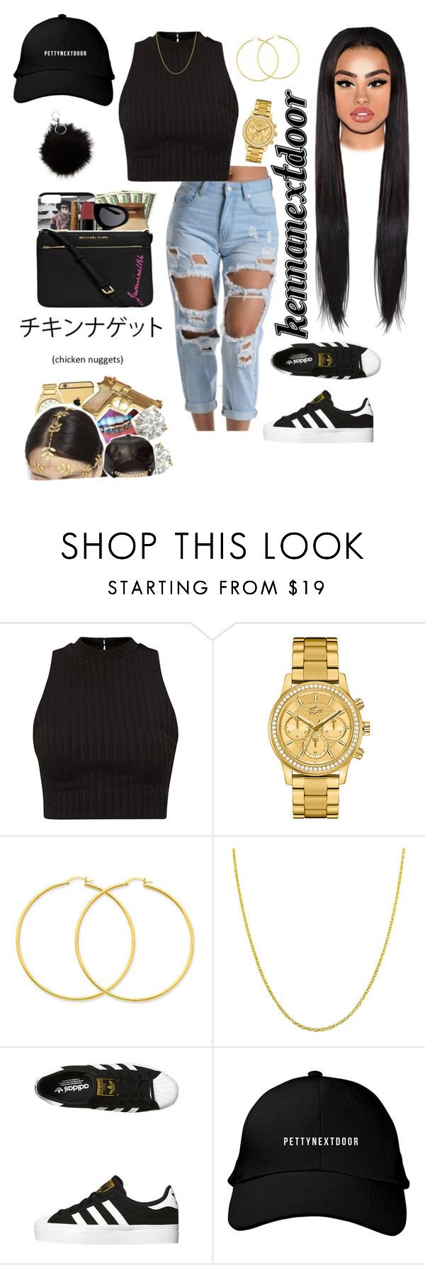 """""""Broccoli - D.R.A.M x Lil Yachty"""" by kennanextdoor ❤ liked on Polyvore featuring Lacoste, Fremada and adidas Originals"""