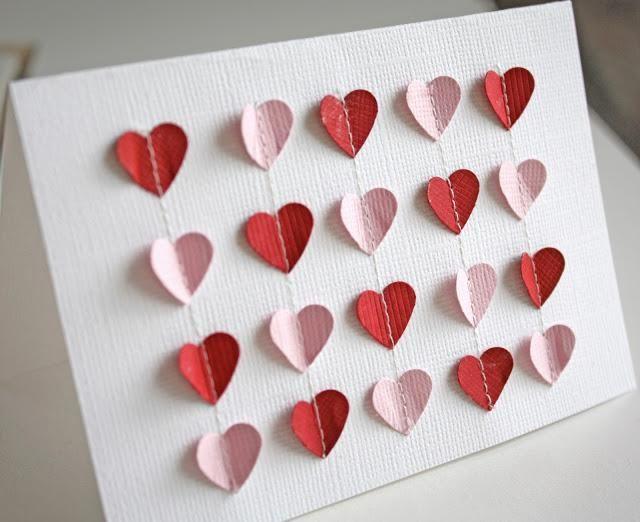 Simply Creative: Tutorial: Fluttering Hearts Valentine DIY Card DIY Valentine