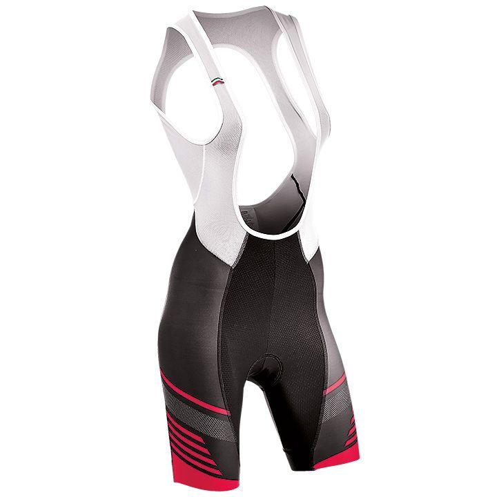 NORTHWAVE korte dames fietsbroek met bretels Verve zwart-roze
