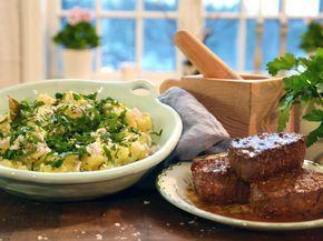 Steak Hasse med krossad potatis och persilja | Recept från Köket.se