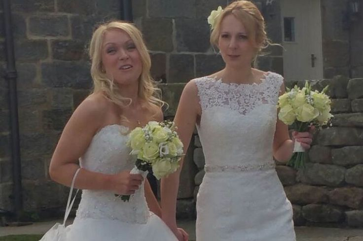 First picture: Emmerdale's Michelle Hardwick marries partner Rosie Nicholl in stunning ceremony - Daily Record