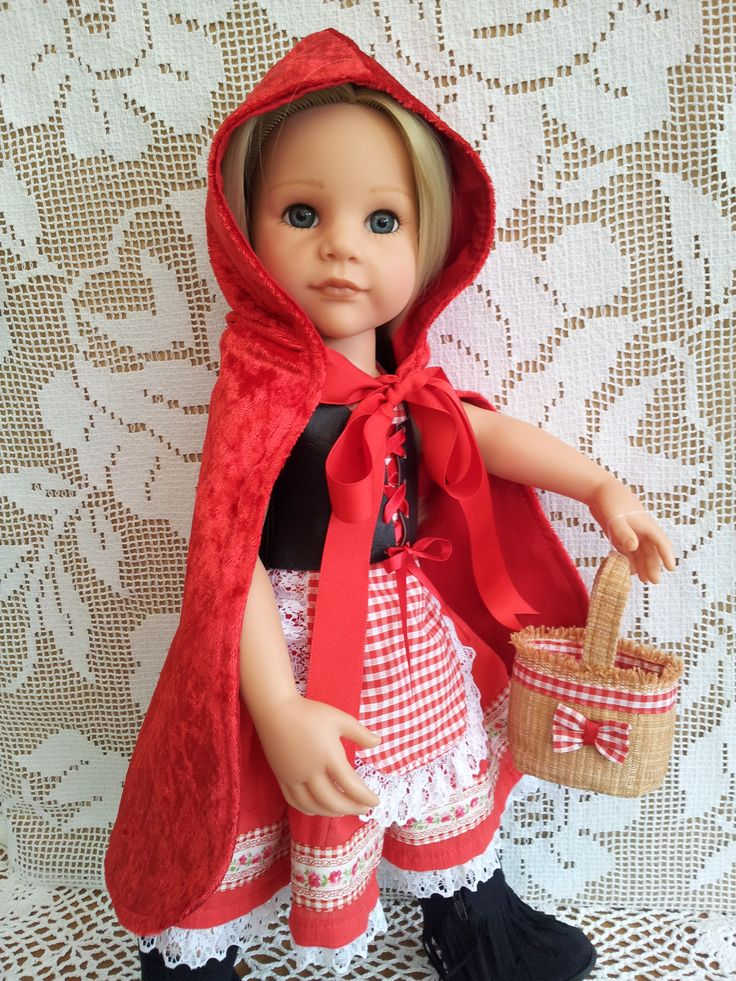 Little Red Riding Hood Outfit with Cloak, Cape, Basket