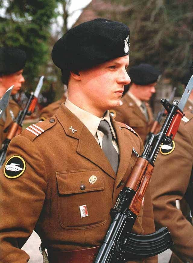 Motor-rifle troops of the Polish People`s Army.