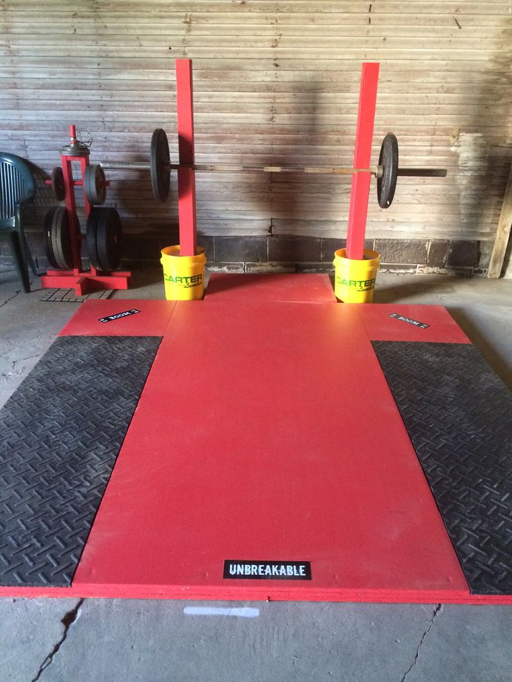 Lifting platform and squat stands diy garage gym