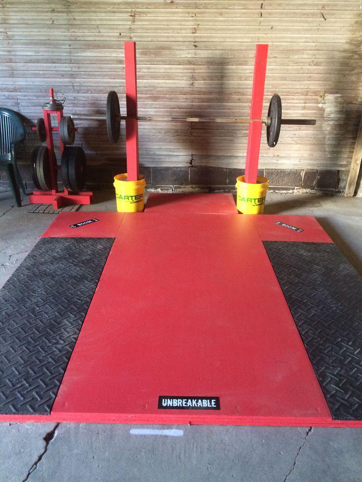 Lifting Platform And Squat Stands Diy Garage Gym Diy