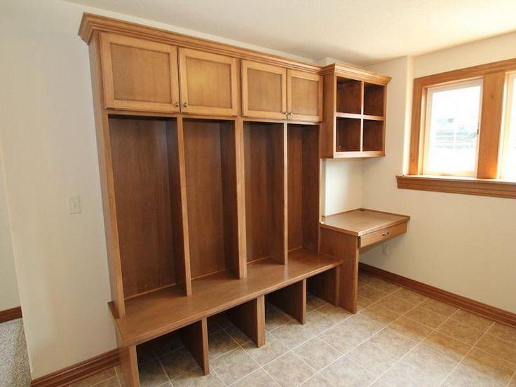 Wood Entryway Lockers Mudroom Pinterest