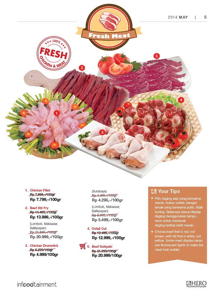 Dapatkan Chicken Fillet dengan harga ekonomis serta berbagai Fresh Meat favorit Anda hanya di Hero Supermarket.